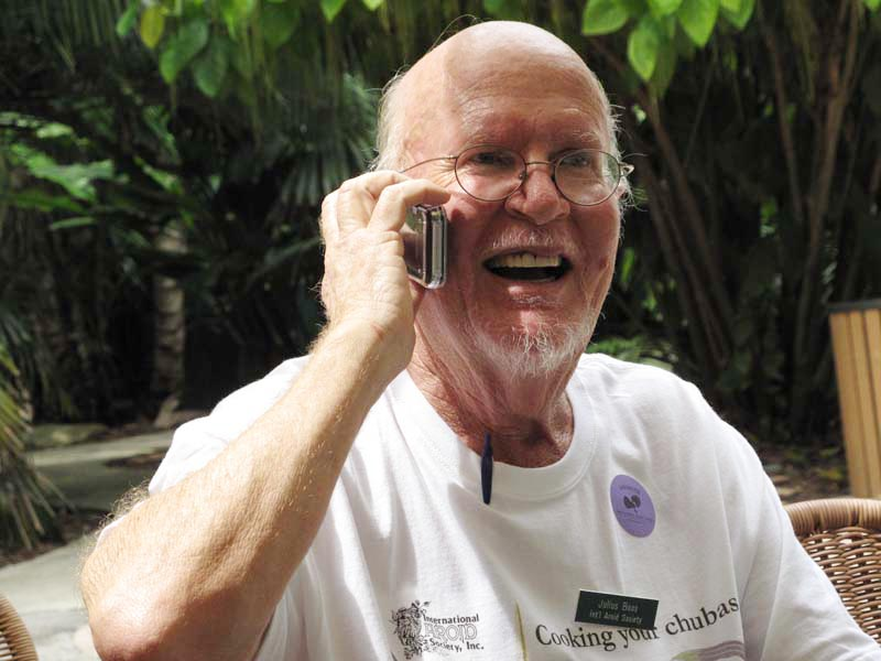 Aroid expert Julius Boos at Fairchild Tropcial Botanic Garden, Photo Copyright Ted Knight
